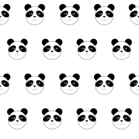 Panda Polka Dots fabric by blackfox on Spoonflower - custom fabric