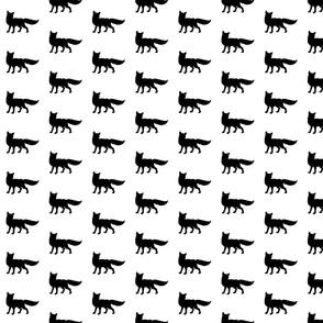 Fox - black on white