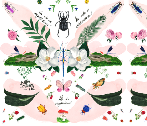 Life is Mysterious fabric by veenydreamed on Spoonflower - custom fabric