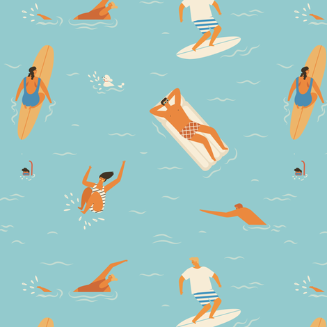 Aloha from Hawaii fabric by tasiania on Spoonflower - custom fabric