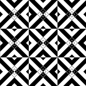 Black & White Diamond Illusion