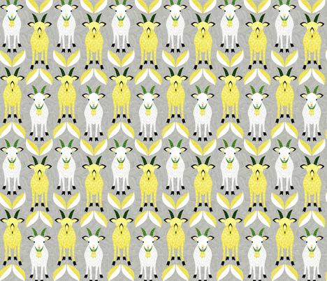 goat02 fabric by gaiamarfurt on Spoonflower - custom fabric