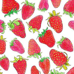 Watercolor Strawberries