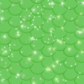 Sparkly Green Mermaid Tail Scales