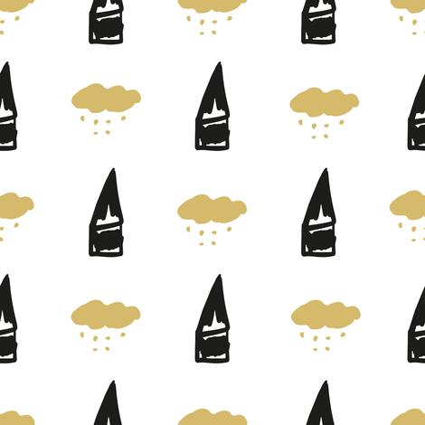Little houses fabric by littlebittyprints on Spoonflower - custom fabric