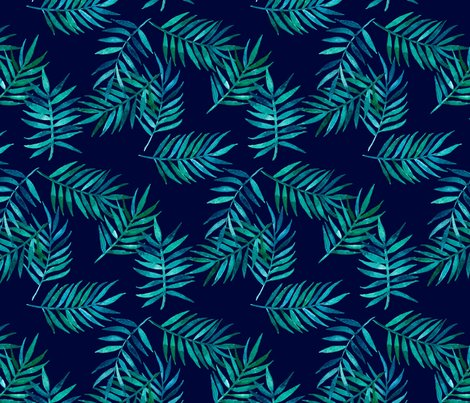 Rgreen_palm_leaves_on_navy_repeat_1_shop_preview