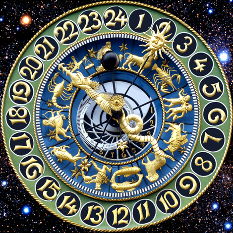 9 clocks time stars universe galaxy zodiac Horoscope Aries Taurus