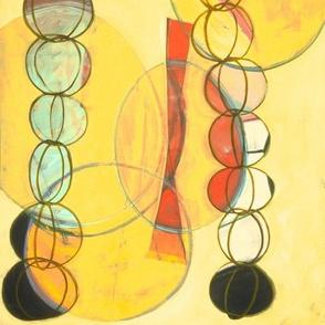 small yellow rain chain