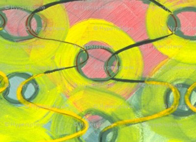 swimming in green (detail)