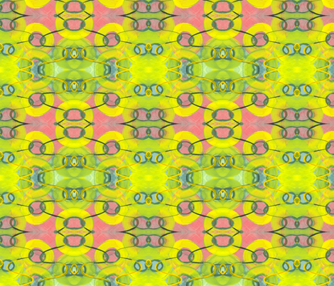 swimming in green (detail) fabric by hypersphere on Spoonflower - custom fabric