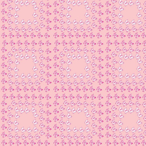 Checkered Butterflies Pink
