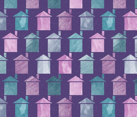 Rrows_of_painted_houses_white_spatter_background_pattern_block_contest145322preview