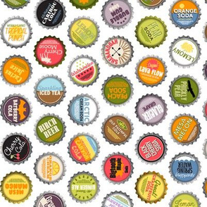 Pop Caps || bottlecap bottle cap polka dots typography cola food drink soda pop