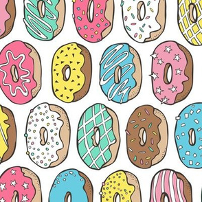 Donuts Multi Colour Rotated