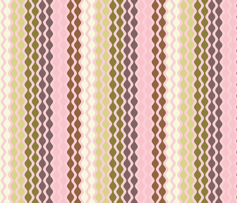 Falling Waves Seamless Repeating Pattern on Light Pink fabric by paula_ohreen_designs on Spoonflower - custom fabric