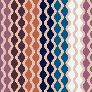Falling Waves Seamless Repeating Pattern on Pink