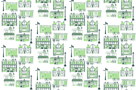 Those Village Favourites fabric by bonniestitch on Spoonflower - custom fabric