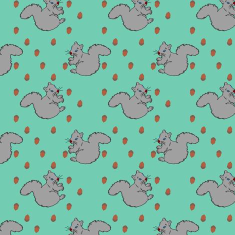 SquirrelwithAcorns fabric by grannynan on Spoonflower - custom fabric
