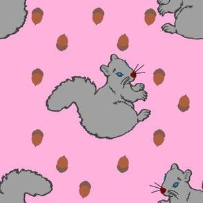 SquirrelwithAcornsPink