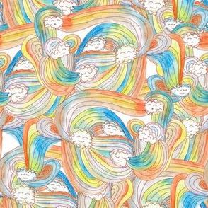 Rainbow Happy Clouds