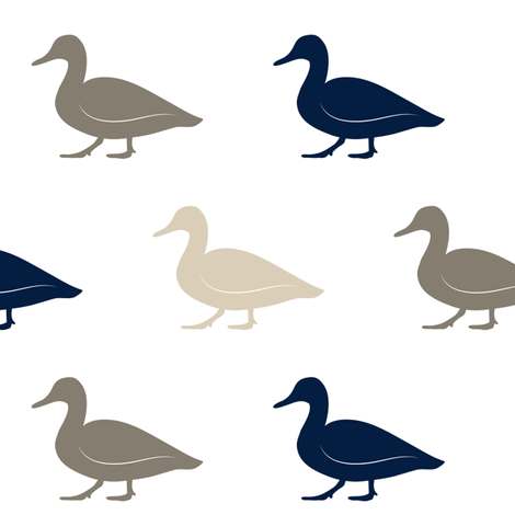 multi duck    rustic woods  fabric by littlearrowdesign on Spoonflower - custom fabric