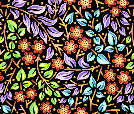 Filigree Floral fabric by patriciasheadesigns on Spoonflower - custom fabric