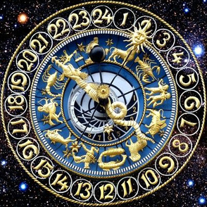 4 clocks time stars universe galaxy zodiac Horoscope Aries Taurus Gemini Cancer Leo Virgo Libra Scorpio Sagittarius Capricorn Aquarius Pisces astrology gold cosmic cosmos planets galaxies nebulae night quasars lobsters twins children baby babies ox bulls