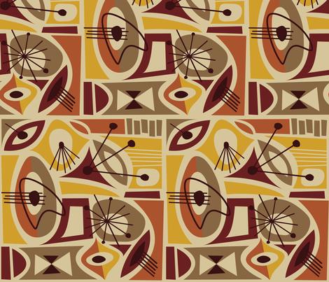 Timanfaya fabric by theaov on Spoonflower - custom fabric