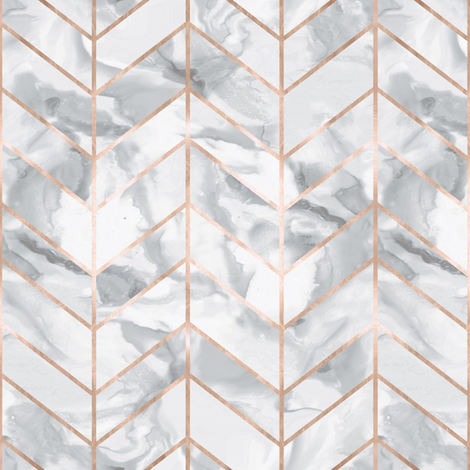 Rose Gold Herringbone Small Scale fabric by willowlanetextiles on Spoonflower - custom fabric