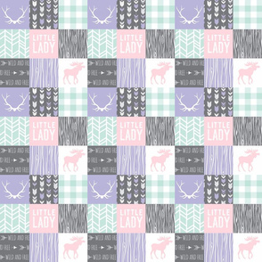 "2"" Little Lady Patchwork - lilac, mint, pink"