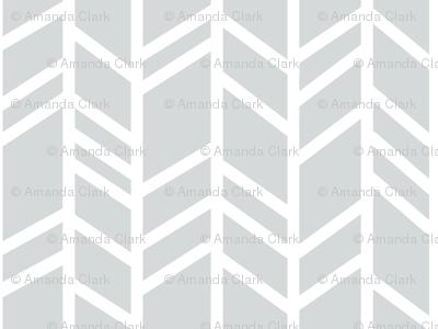 Crazy Herringbone - Light grey