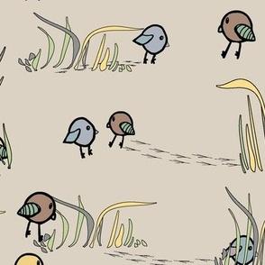Birds Walk ( spring forest)