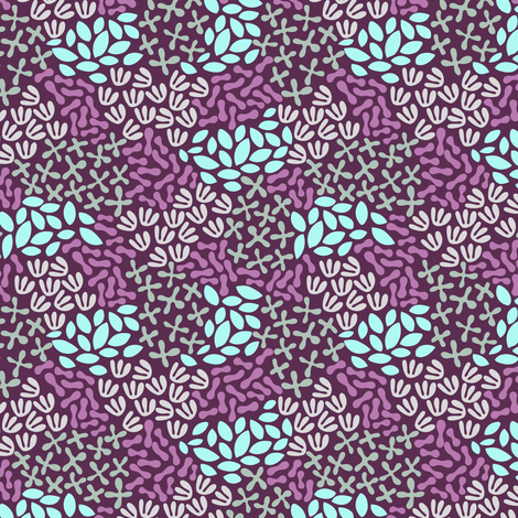 Abstract flowers and leafs fabric by eastendstudios on Spoonflower - custom fabric