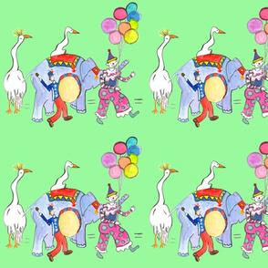 cranes and circus parade