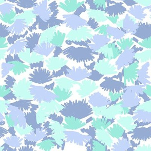 abstract mint and purple nursery fabric
