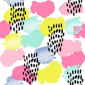 abstract painterly nursery modern confetti fabric