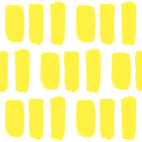 Broader Brush Strokes in Yellow fabric by anniedeb on Spoonflower - custom fabric
