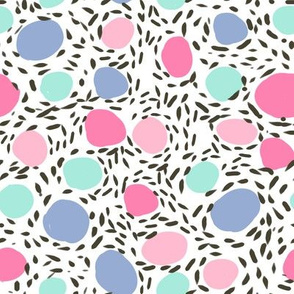 pebbles dots fabric nursery abstract girls pastel happy fabric
