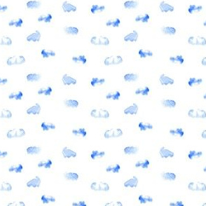 Clouds watercolor blue white london england city_Miss Chiff Designs