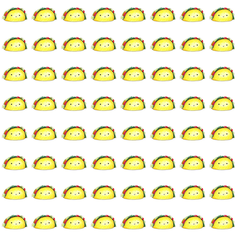 Tacos on White fabric by rileymade on Spoonflower - custom fabric