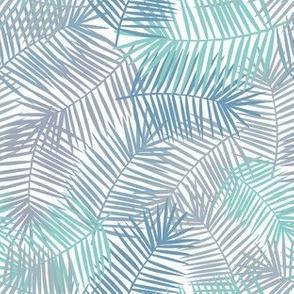 Palm leaves light pattern