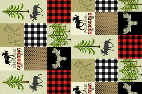 "LUMBER JACK RED 4.5"" fabric by moosedesigncompany on Spoonflower - custom fabric"