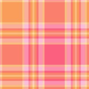 pink and orange plaid