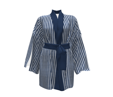 Navy blue textured stripes
