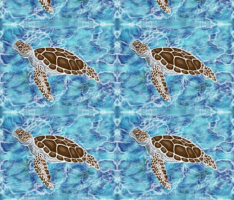 Sea turtles #1 by Salzanos fabric by salzanos on Spoonflower - custom fabric