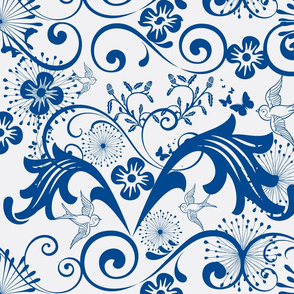 Baroque in Blue and White