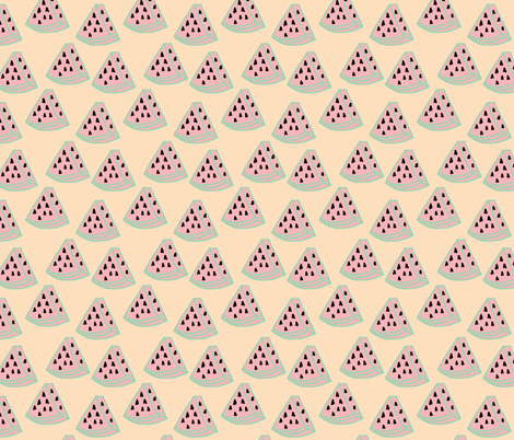 watermelon fabric by inezjestine on Spoonflower - custom fabric