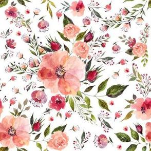"""8"""" Floral Rhapsody / White"""