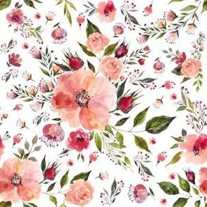 """6"""" Floral Rhapsody / White"""