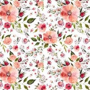 """4"""" Floral Rhapsody / White"""